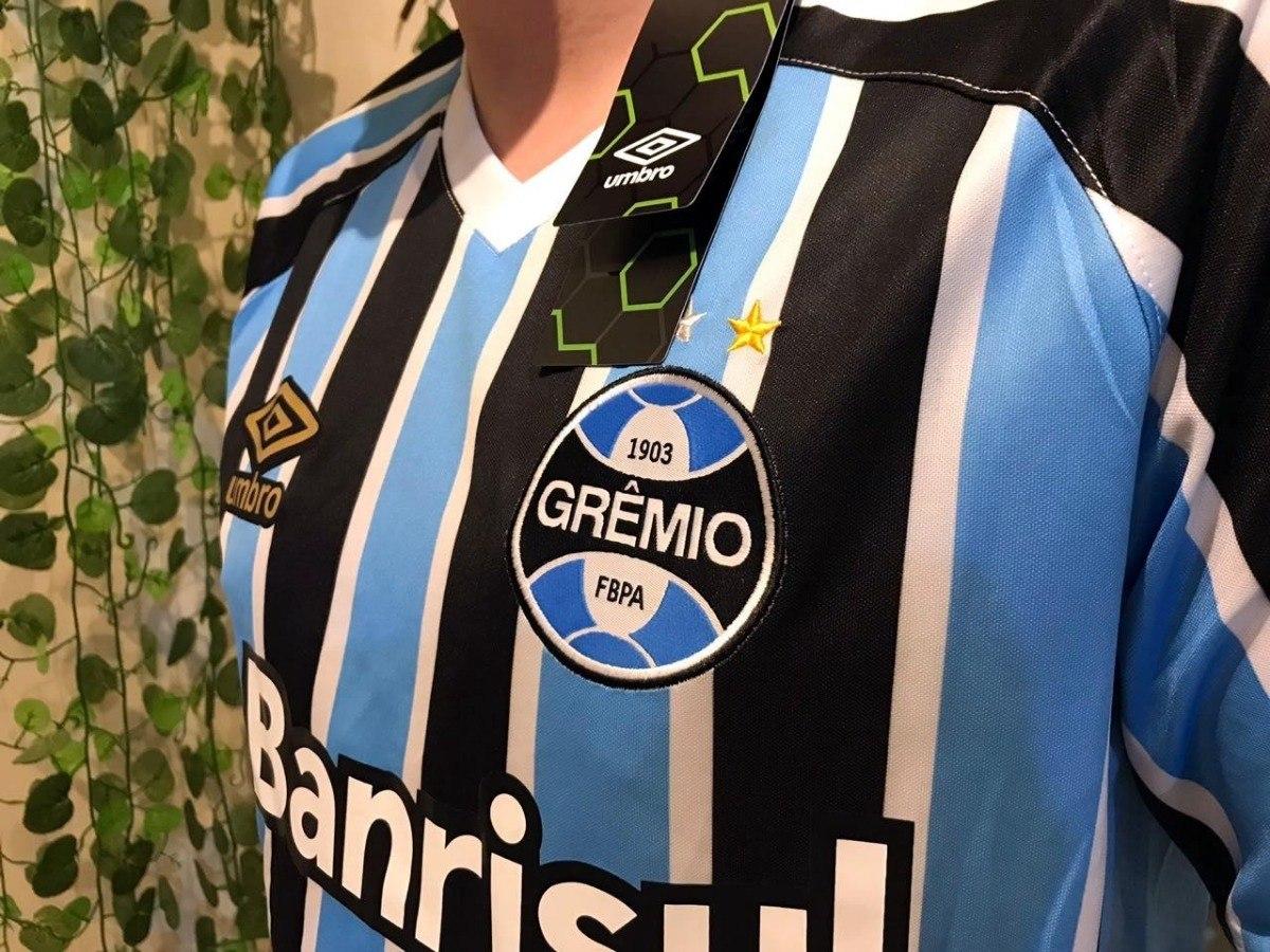475cbd3098 Camisa Grêmio S n° 18 19 Original Masculina Lançamento - R  170