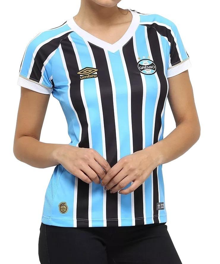 camisa grêmio umbro 2018 19 feminina oficial i tricolor. Carregando zoom. 362c08e40b7fc
