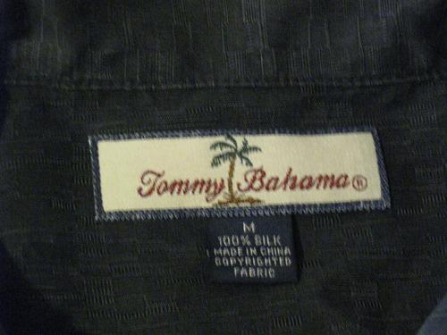 camisa guayabera hawaiana de seda tommy bahama talla m