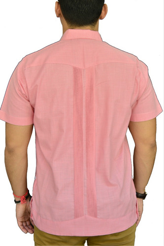 camisa guayabera yucateca casual lino manga c _cfkcmp11