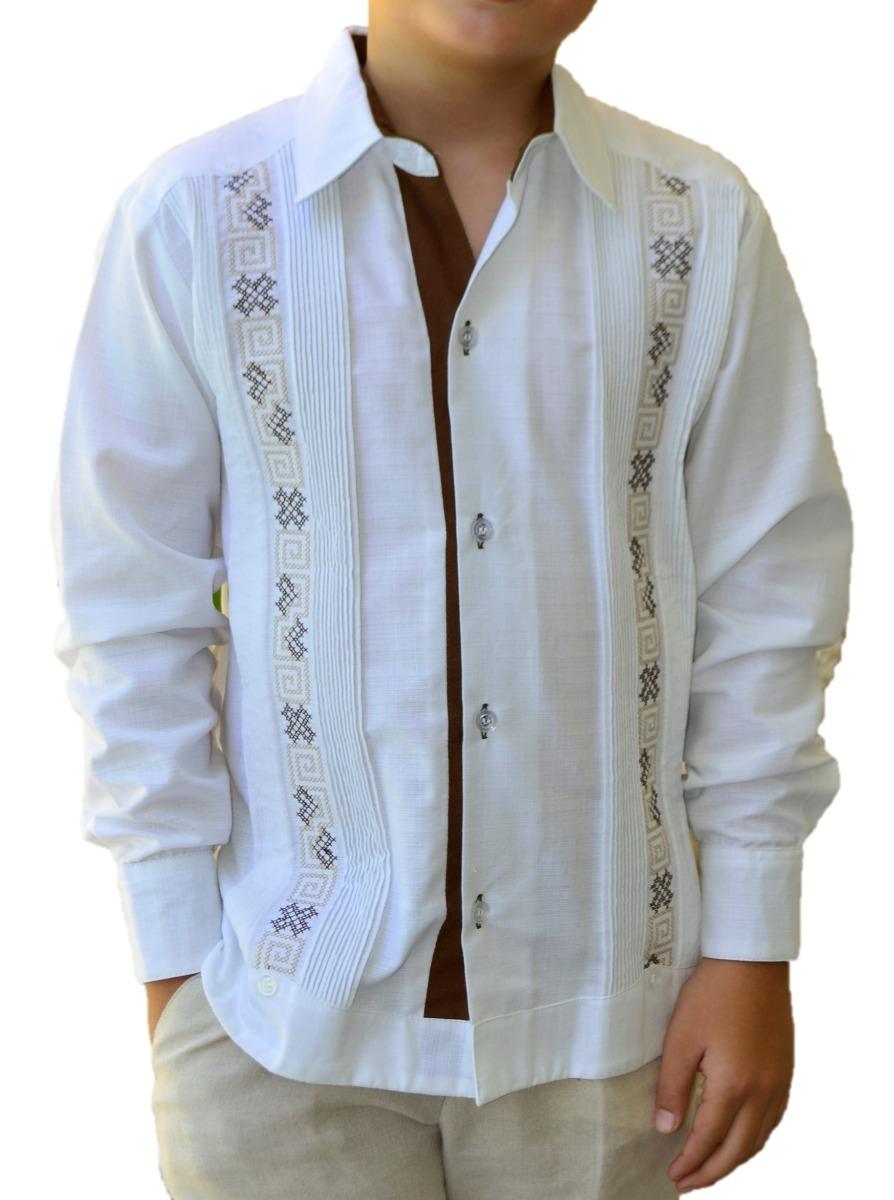 Camisa Guayabera Yucateca Casual Lino Niño  cfkjorn1211 -   550.00 ... 180d3bdd37c