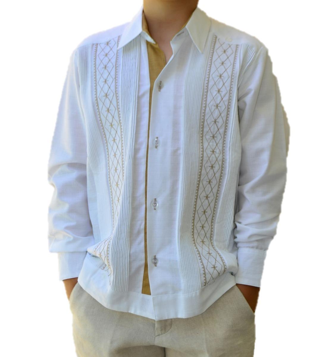 18a783a808 camisa guayabera yucateca casual lino niño  cfkjorn1221. Cargando zoom.