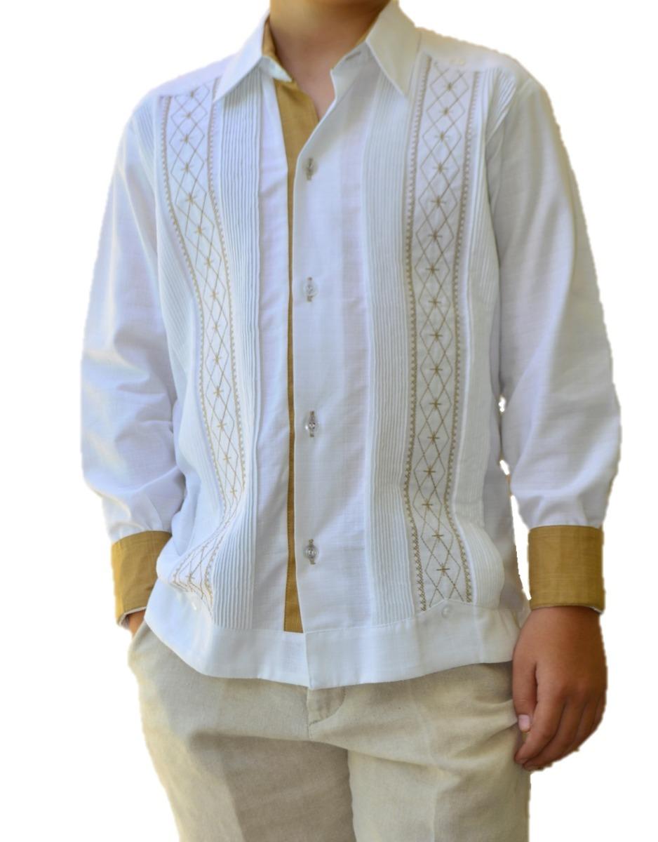 1aff8454fd camisa guayabera yucateca casual lino niño  cfkjorn1221. Cargando zoom.
