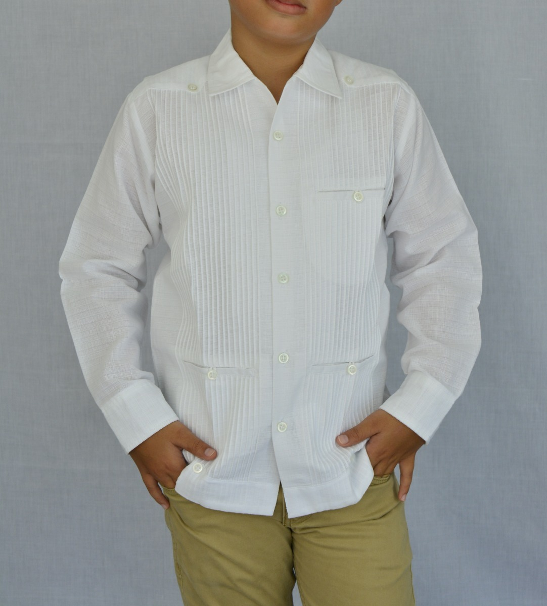 6c72735328 camisa guayabera yucateca casual lino niño  cfkprsml1210. Cargando zoom.