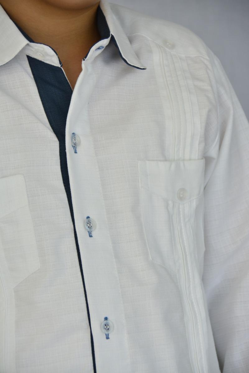 cfa9a47b7d camisa guayabera yucateca casual lino niño  cfkrogrn1214. Cargando zoom.