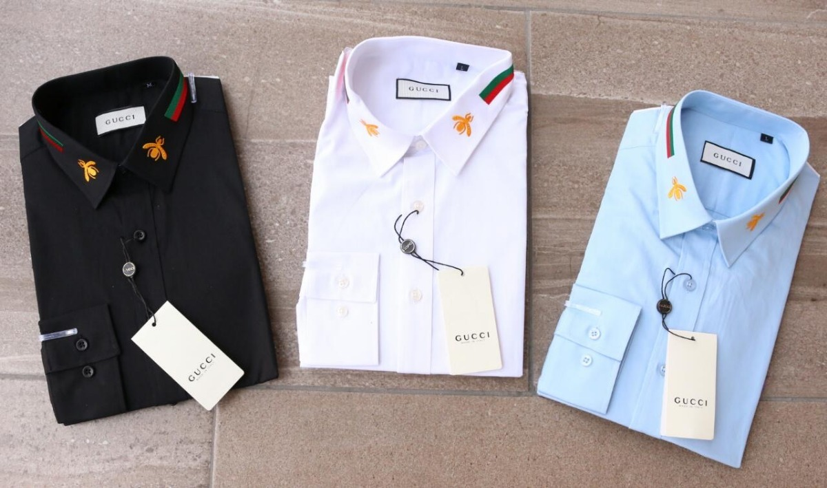 Camisa gucci vestir caballero diseño abeja cargando zoom jpg 1200x709 Abeja  camisas gucci 549e2bdd7b589