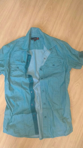 camisa guess azul xs / p #growhugreen