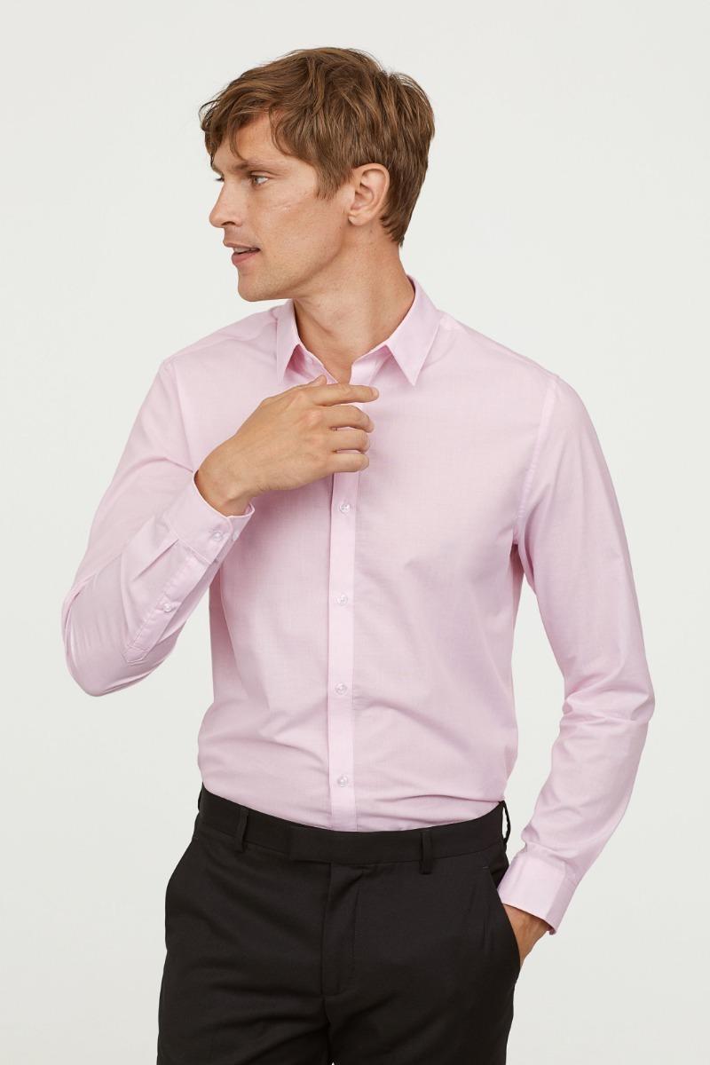 49bb0d092e rosa camisa m hombre h slim m Cargando zoom talle amp  fit m amp  h BAFvwB