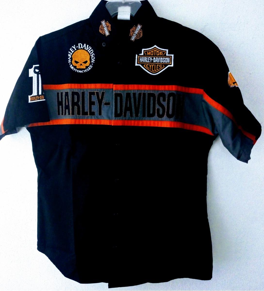 camisa harley david scuderia motos color negra para niño. Cargando zoom. aa141ac19bb
