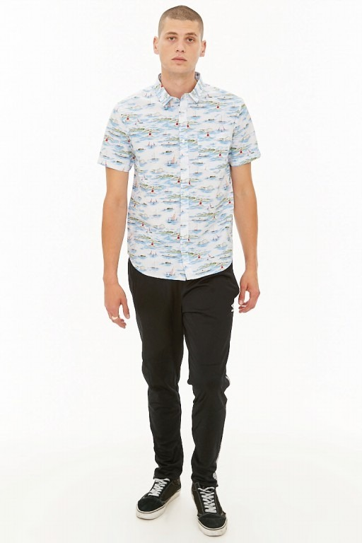 Camisa Hawaiana Forever 21 Black Closet Store
