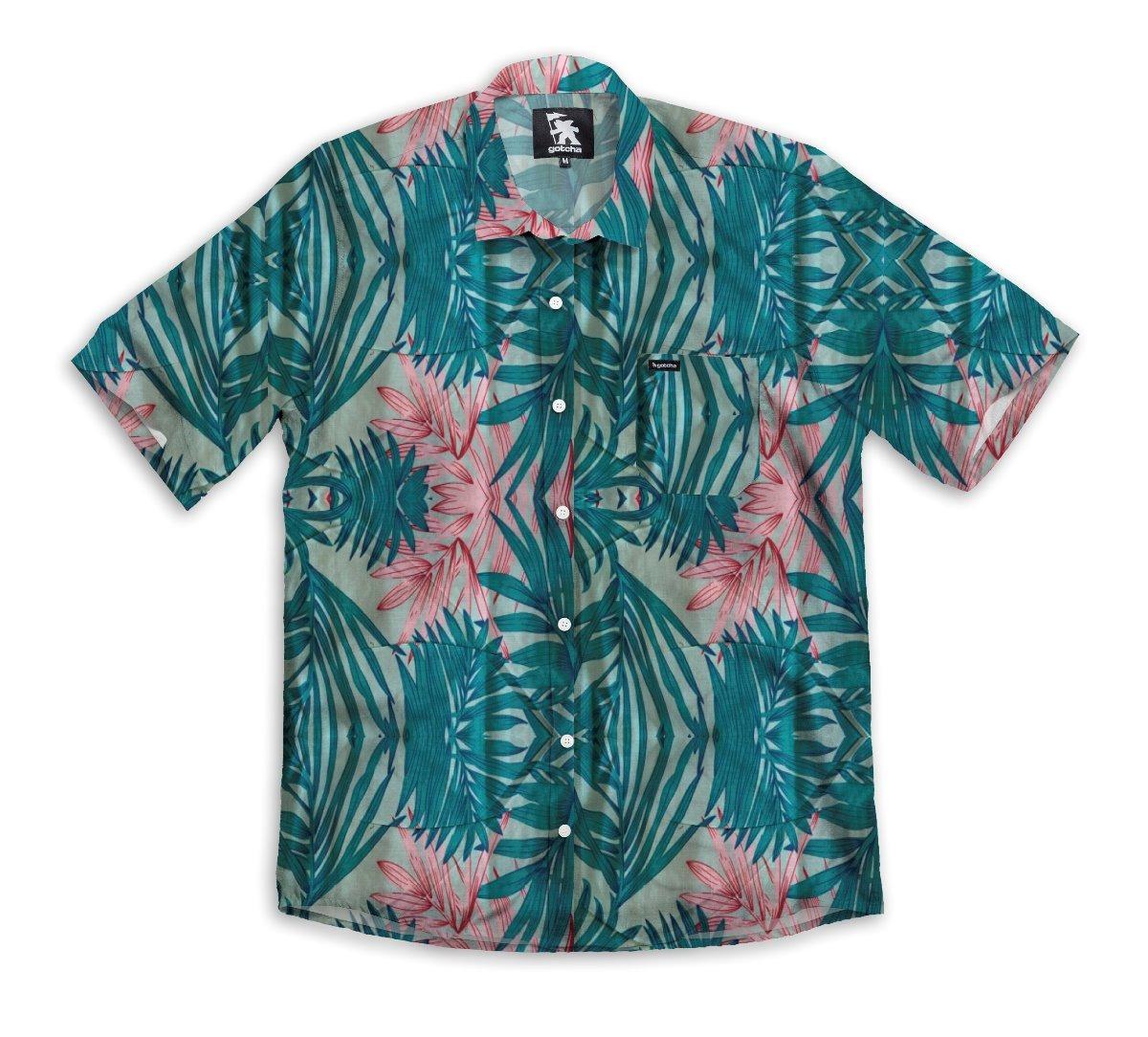 Hawaiana Manga Skate Camisa Gotcha Suft Corta Hombre thsQdCxr