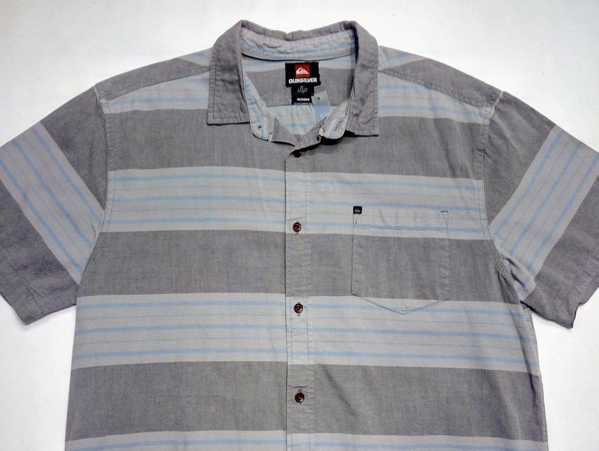 venta profesional acogedor fresco el precio más bajo Camisa Hawaiana Quiksilver Gris Surf Talle L Americana (380) - $ 1.502,80