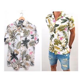 Camisa Hawaiana Verano Tendencia Fibrana Tropical