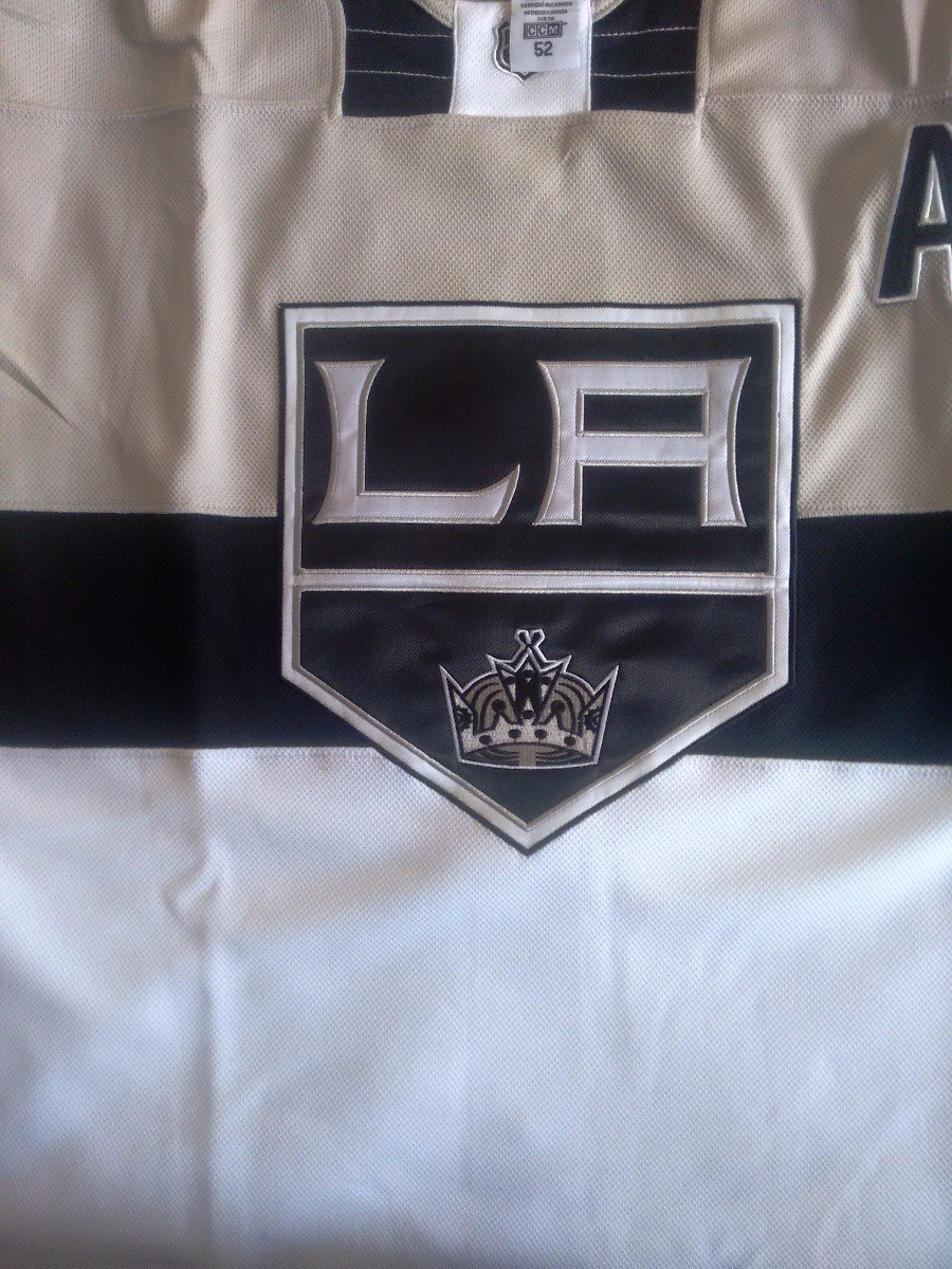 camisa hockey los angeles kings branca bordada. Carregando zoom. 19d80376e66