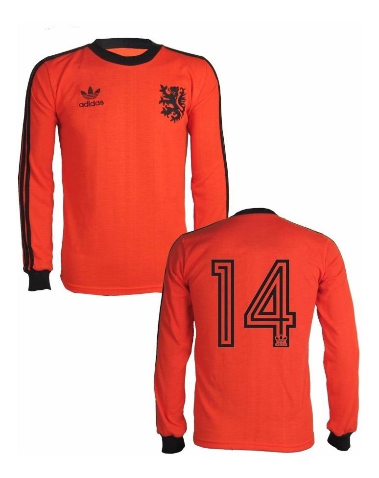 d76db829a6 Camisa Holanda Estilo Retrô Nº14 - R$ 149,00 em Mercado Livre