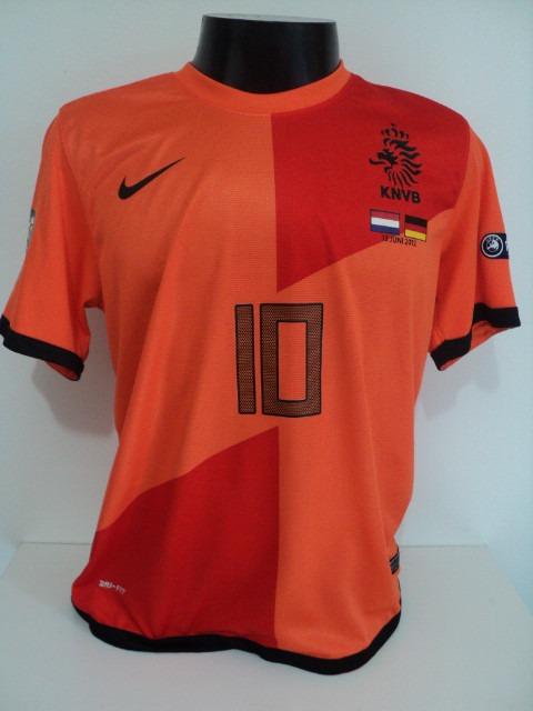 f06a1c78d2 Camisa Holanda Home 12-13 Sneijder 10 Euro 2012 Vs Alemanha - R  149 ...