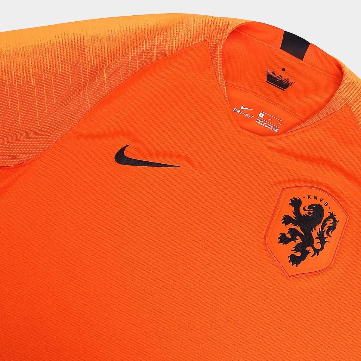 9b5402570ab31 camisa holanda home 2018 tamanho g laranja nike novo. Carregando zoom.