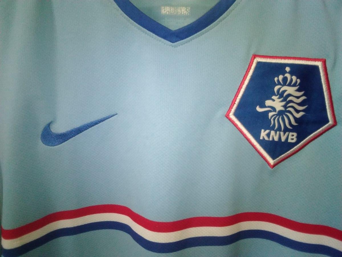 ffd42153e4 camisa holanda nike azul. Carregando zoom.