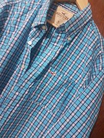 Hollister Xl Talla Camisa Azul Cuadros ZkXOPTlwui