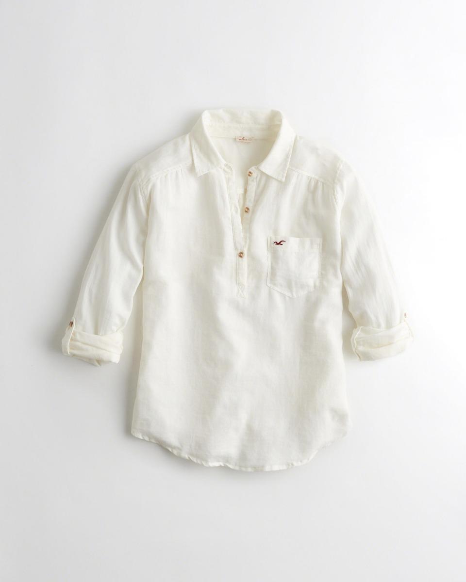877c40daf0 camisa hollister feminina branca original importada m fr g. Carregando zoom.