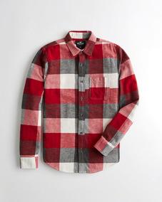 72559beda1 Camisa Hollister Hombre 100% Original Corte Suelto Franela