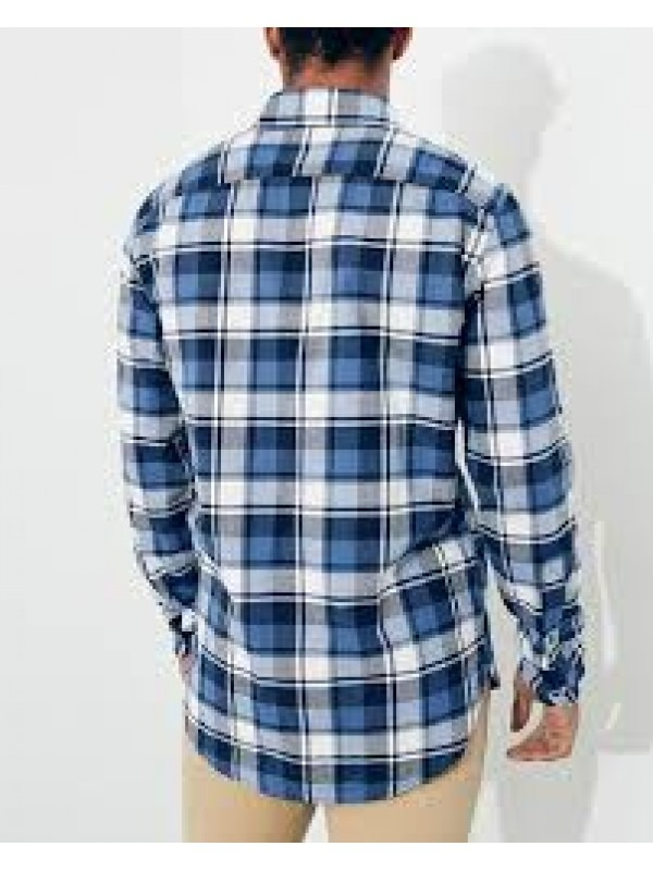 6f0285d44332a camisa hollister longline fit xadrez azul. Carregando zoom.