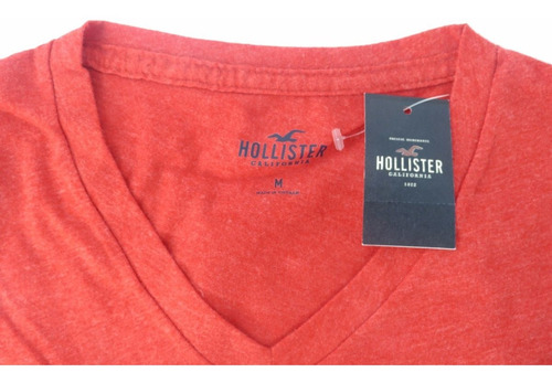camisa hollister masculina vermelha original tamanho m