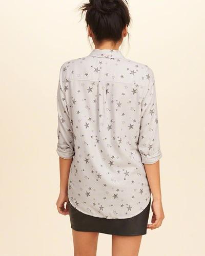 camisa hollister social casual feminina blusas abercrombie