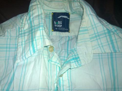 camisa hollister talla m de cuadros azules