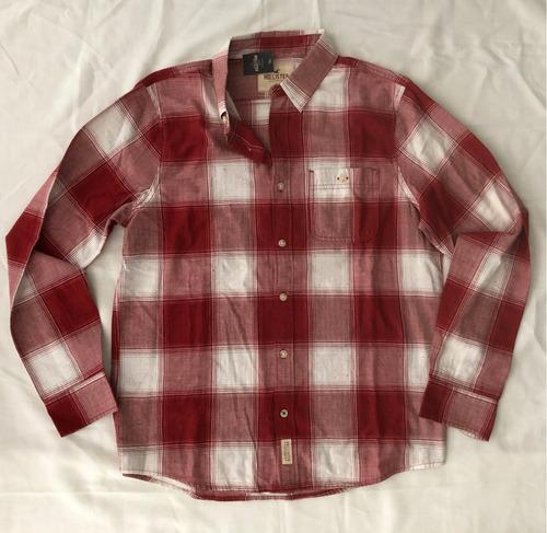 camisa hollister xadrez importada social casual masculina g