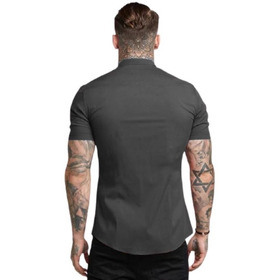 Camisa Hombre  Verano  Manga Corta Elastica