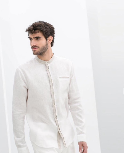 camisa hombre 100%  algodón manga larga g005