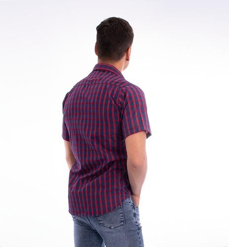 camisa hombre algodon manga corta - ideal verano