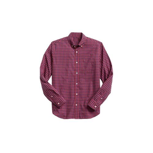 camisa hombre casual manga larga estampada cuadros gap