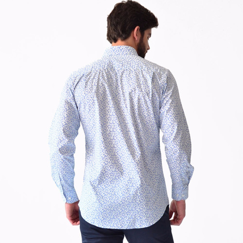 camisa hombre casual manga larga rack & pack