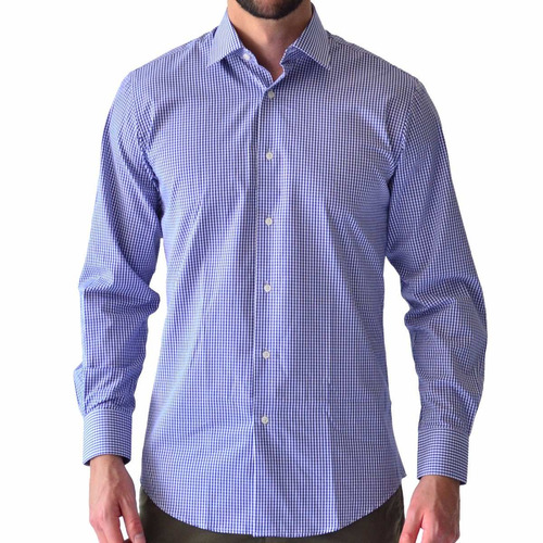 camisa hombre casual manga larga rack & pack algodon