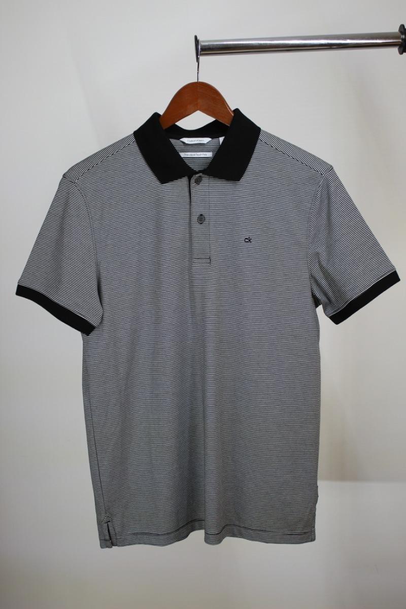 d23956491dc camisa hombre cuello polo calvin klein talla chica negra. Cargando zoom.