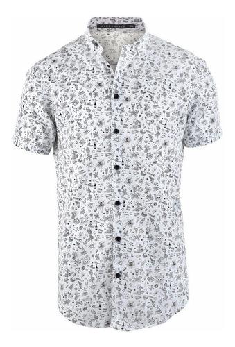 camisa hombre farenheite calaveras manga corta
