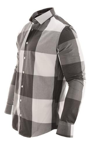 camisa hombre farenheite cuadros dam