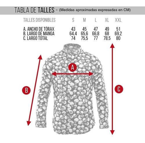 camisa hombre farenheite duki calavera