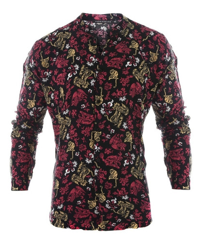 camisa hombre farenheite fibrax mao
