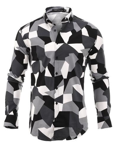 camisa hombre farenheite geo