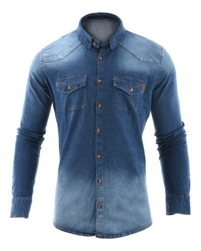 camisa hombre farenheite jean dilby