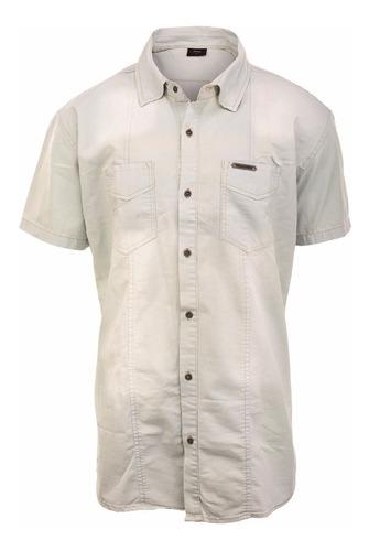 camisa hombre farenheite jean manga corta
