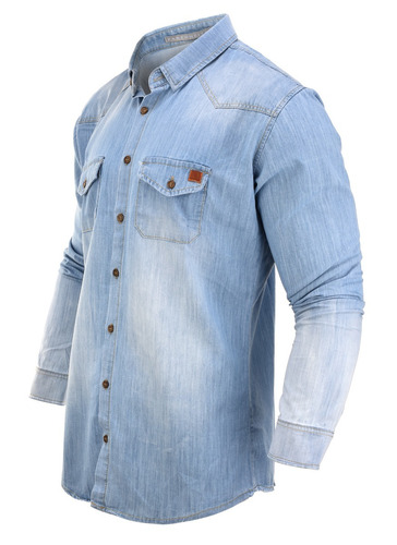camisa hombre farenheite jeans celex slim fit