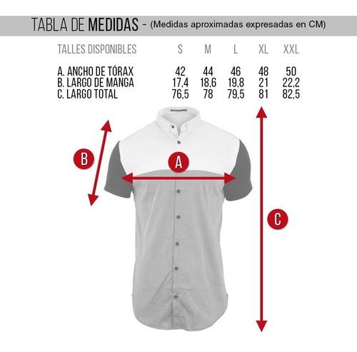 camisa hombre farenheite tricolor