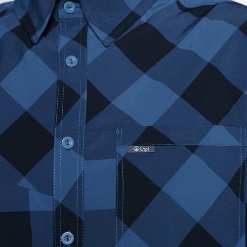 camisa hombre geo long sleeve shirt azul lippi