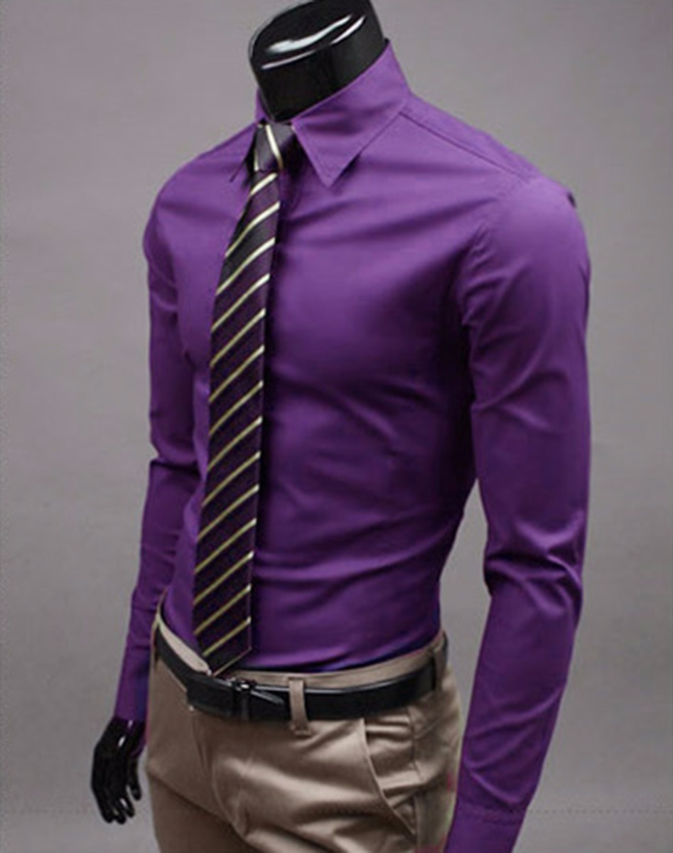 Dark Purple Shirt For Men