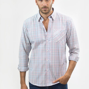 Camisa Hombre Ml Cuadros Splendor Red navy Oxford Polo Club
