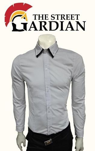 camisa hombre slim fit ref doble cuello